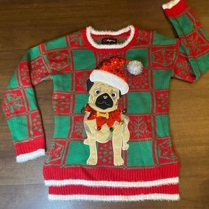 English Bulldog Ugly Christmas Sweater - S